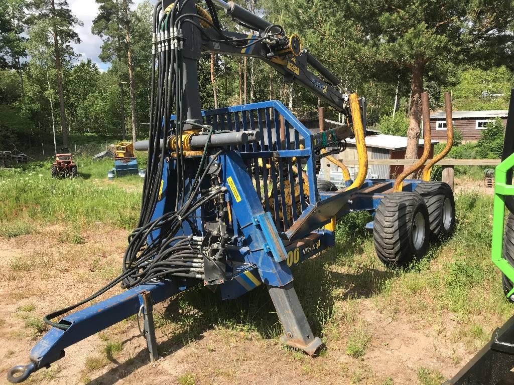 Vreten 1000 skogsvagn 10 ton, Skogsvagnar, Skogsmaskiner