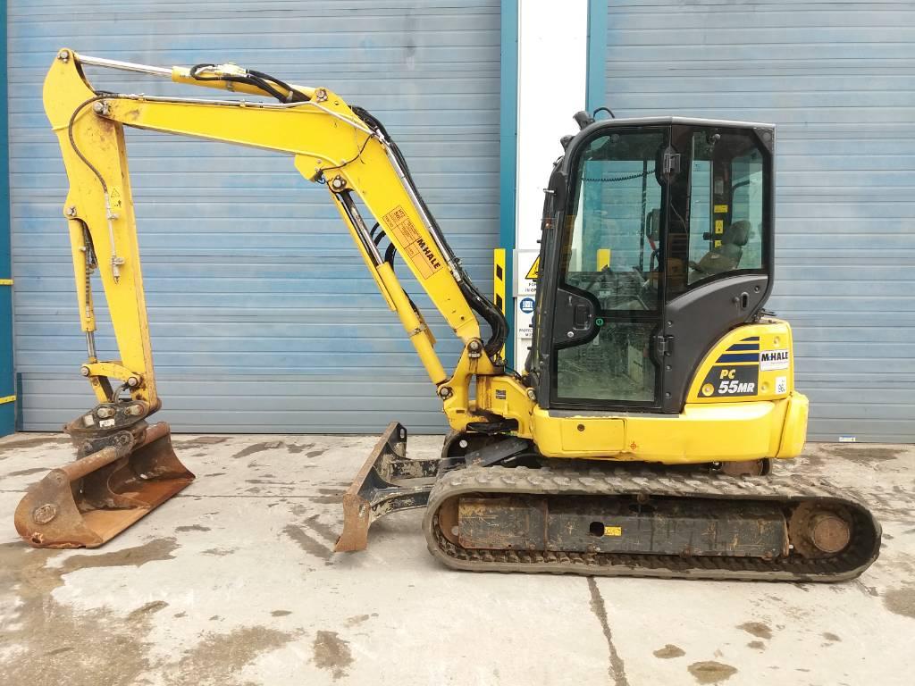 Komatsu PC55MR-5, Midi excavators, Construction Equipment