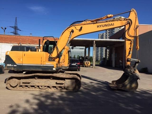 Hyundai R160LC-9A, Crawler excavators, Construction
