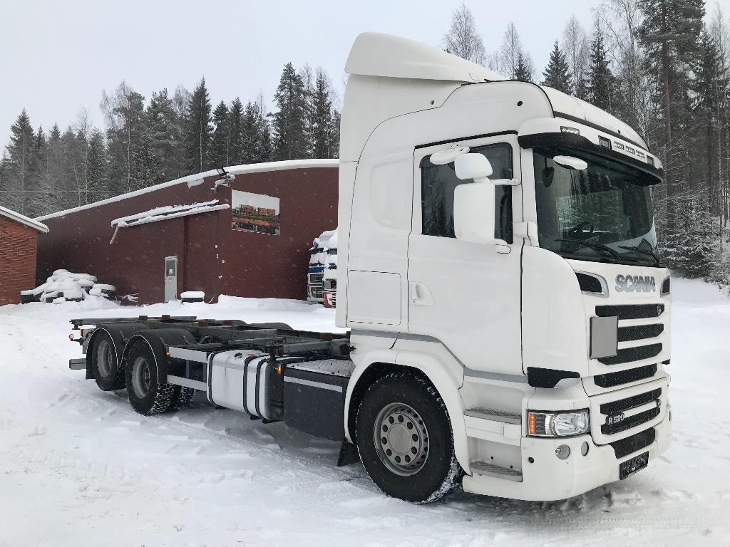 Scania R520 V8 6x2 BDF konttilaitteet, Kontti-/tasonostoautot, Kuljetuskalusto