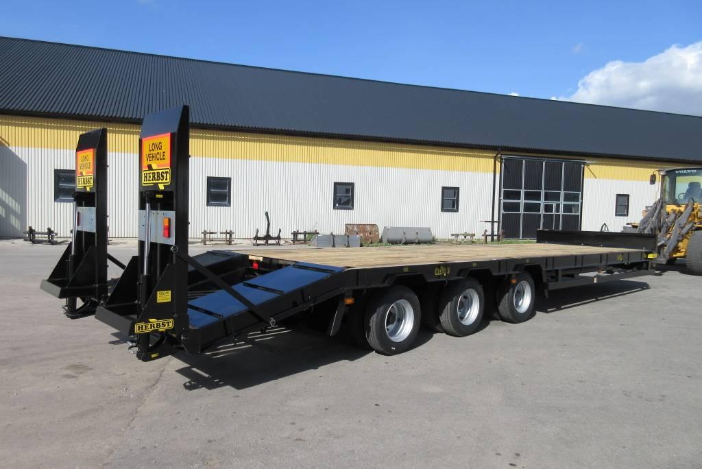 Herbst maskintrailer för traktor, 10 m, 23 tons, Schaktvagnar, Entreprenad