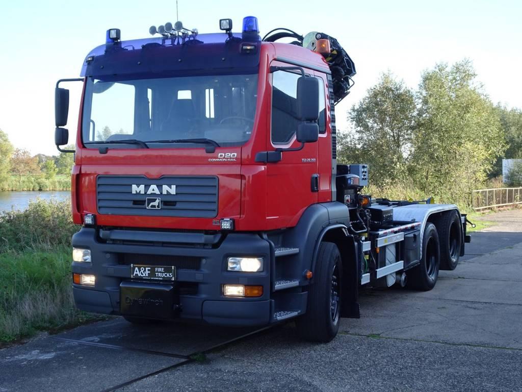 MAN TGA 28-350 Multilift + Hiab, Hook lift trucks, Transportation