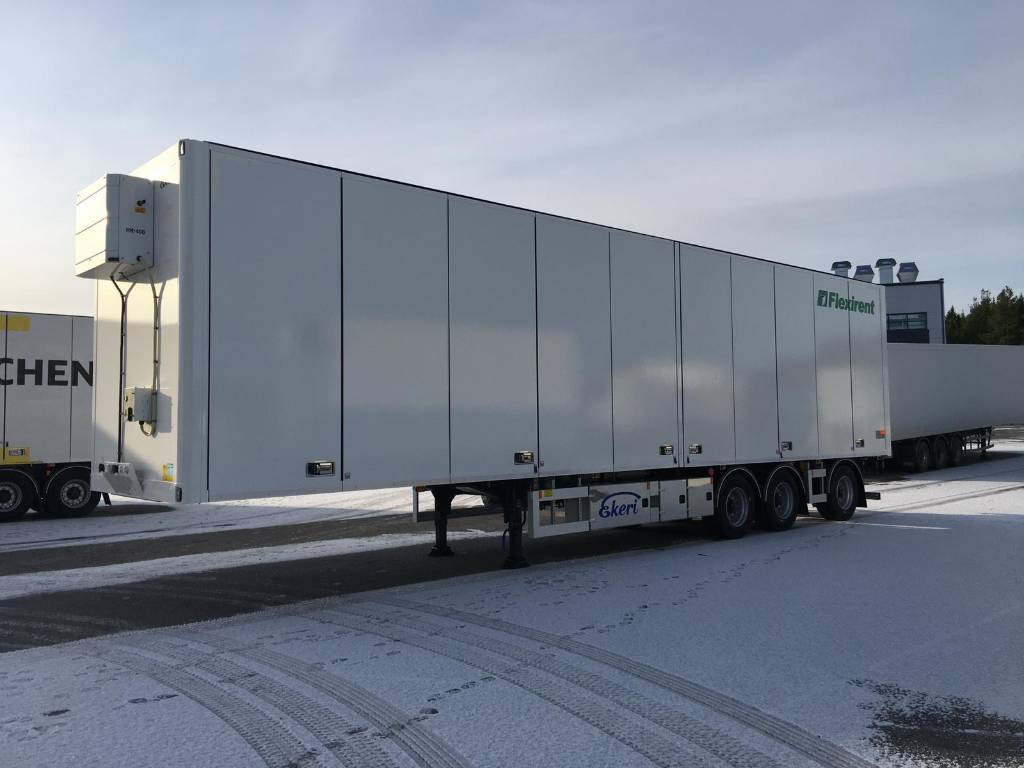 Ekeri PPV vuokrattavana! HCT 13,6m Duo2, Box body semi-trailers, Transportation