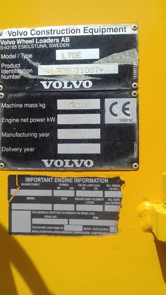 Volvo L 70 E, Cargadoras sobre ruedas, Construcción