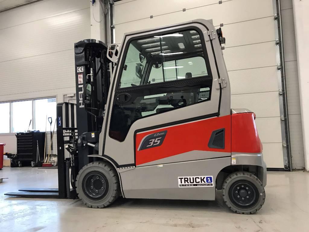 Heli CPD35-GD2D - 3,5 t el. truck - 4,7 m LH (PÅ LAGER), Elektriske trucker, Truck