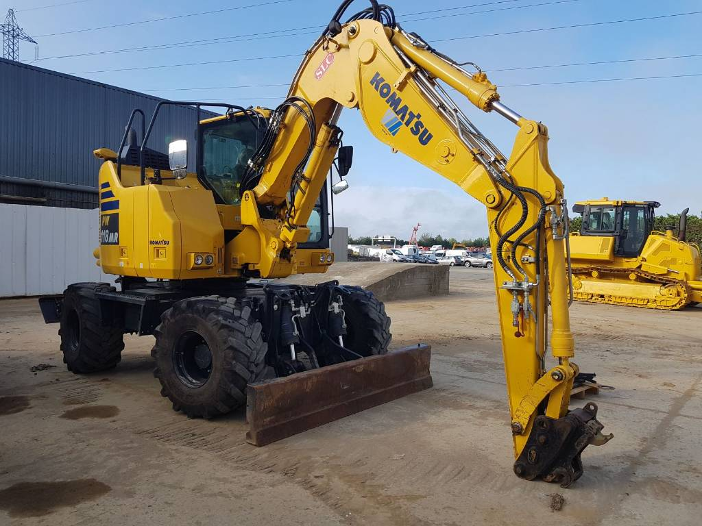 Komatsu PW118MR-11, Wheeled Excavators, Construction Equipment