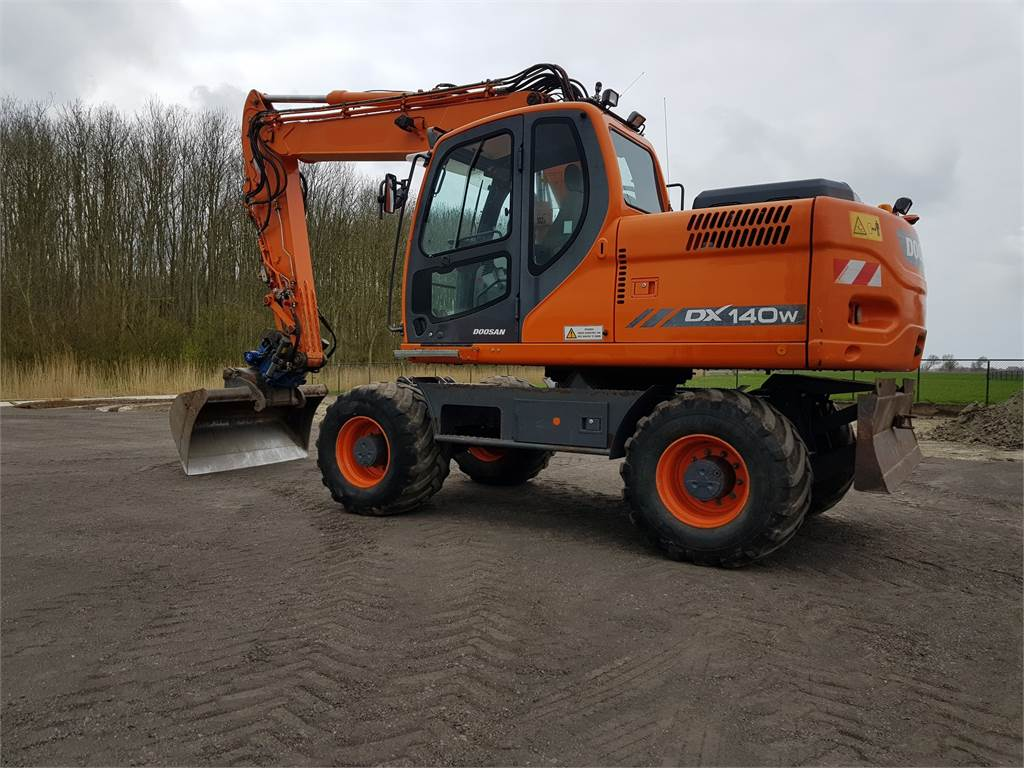 Doosan DX140W, Wheeled Excavators, Construction Equipment