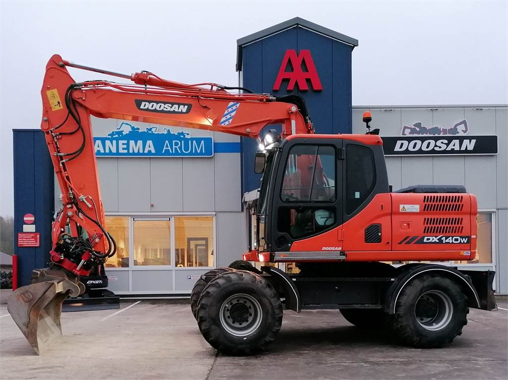 Doosan DX140W-3, Wheeled Excavators, Construction Equipment