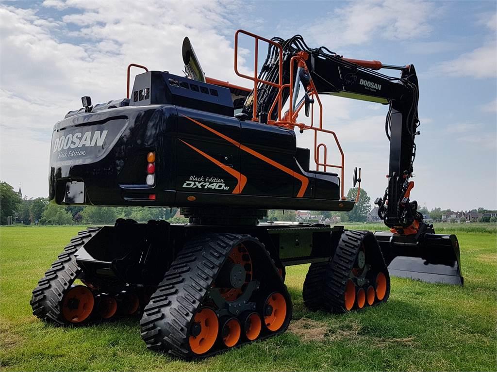 Doosan DX140W-5, Wheeled Excavators, Construction Equipment