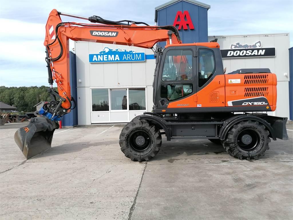 Doosan DX160W-3, Wheeled Excavators, Construction Equipment