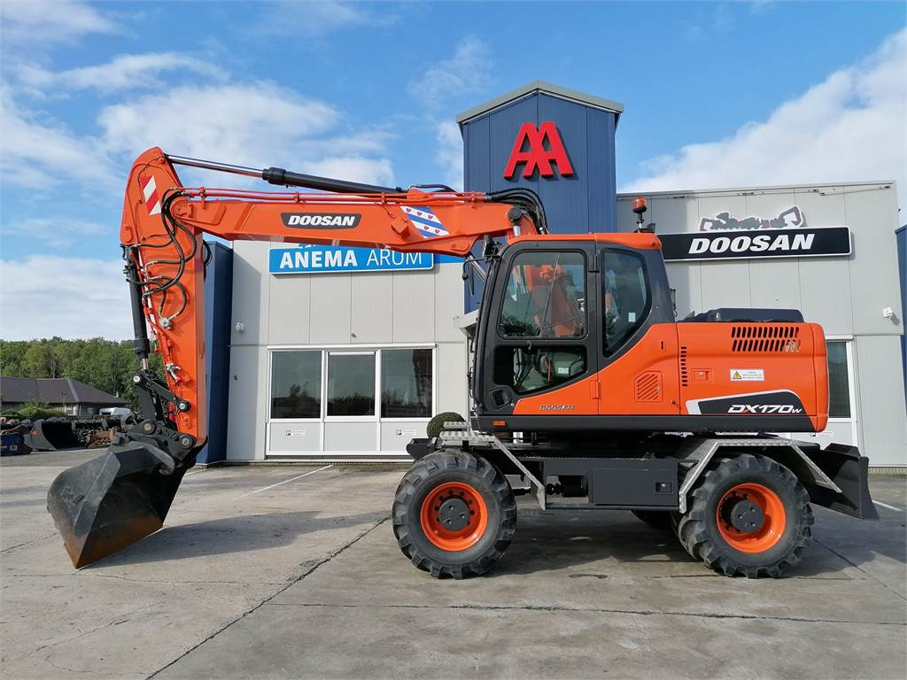Doosan DX170W, Wheeled Excavators, Construction Equipment