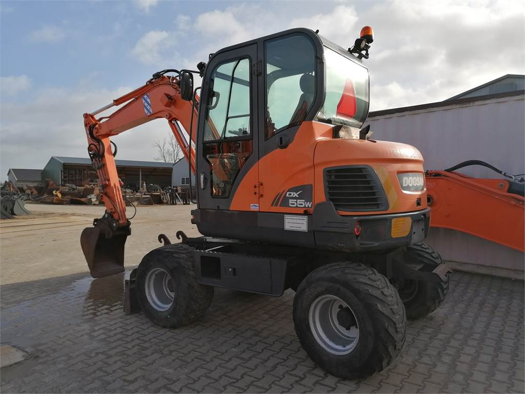 Doosan DX55W, Mini digger, Construction Equipment