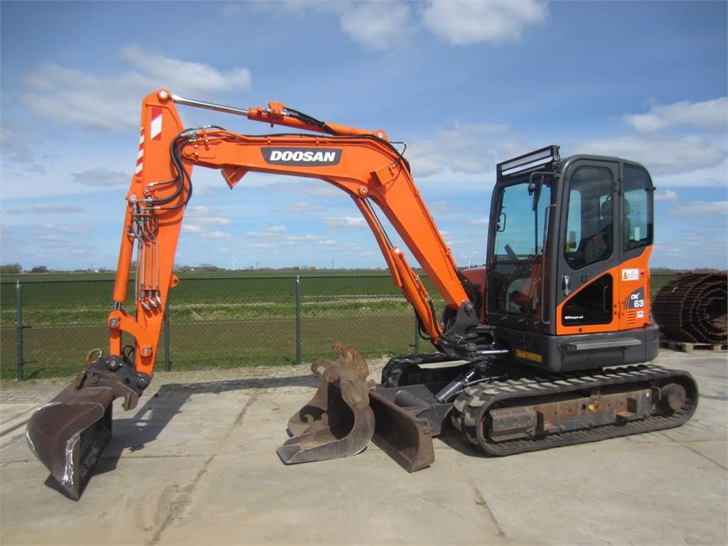 Doosan DX63-3, Mini digger, Construction Equipment