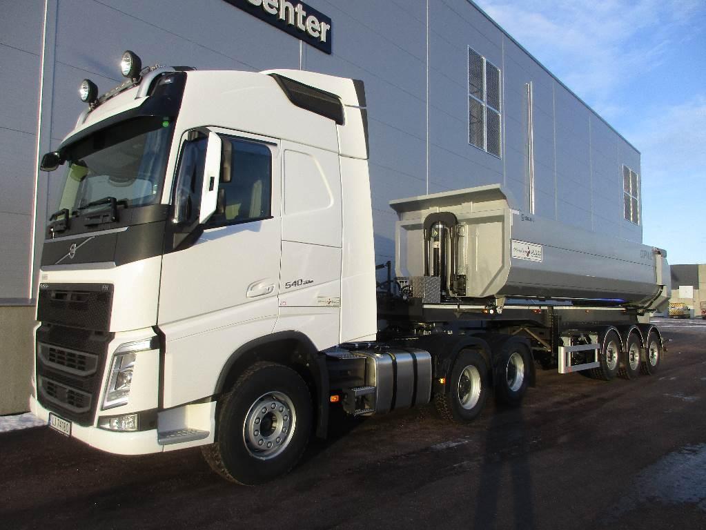 Volvo FH540 - Tippsemi komplett. Det leier du hos oss!, Trekkvogner, Transport