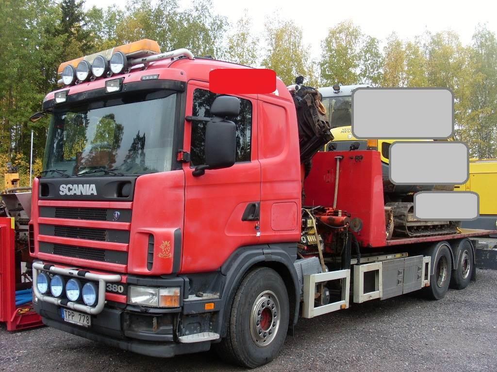 Scania R 114GB6X2*4NA380, Kranbilar, Transportfordon