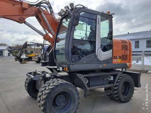 Hitachi ZX 145 W-3, Wheeled Excavators, Construction Equipment