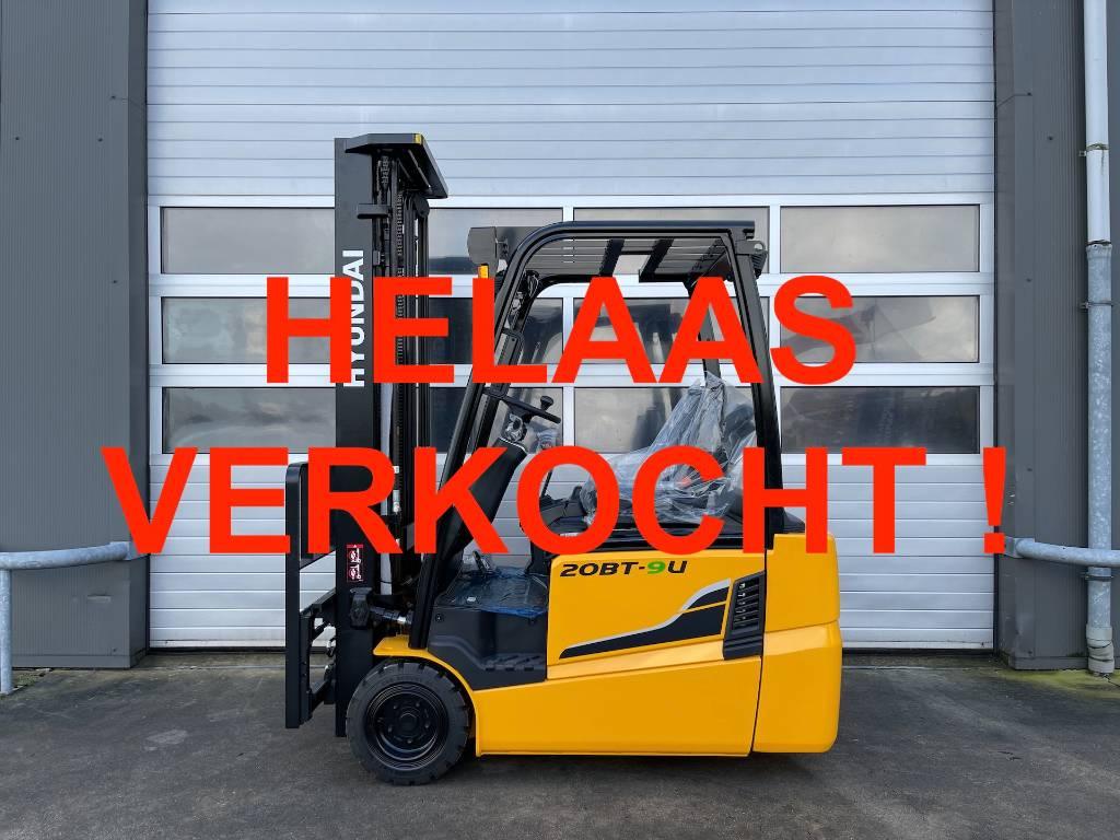 -VERKOCHT- Hyundai 20BT-9U 2 TON ELEKTRISCHE HEFTRUC 2000KG 5.5M TRIP, Elektrische heftrucks, Laden en lossen