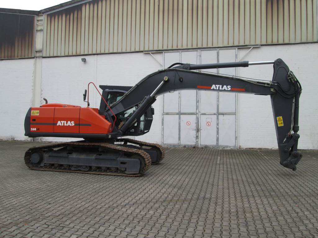 Atlas 260 LC, Raupenbagger, Baumaschinen