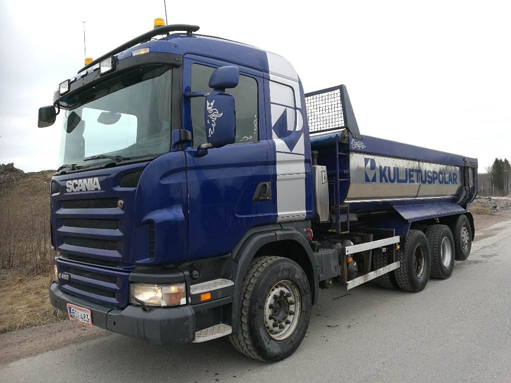 Scania G480 8x4, Tipper trucks, Transportation