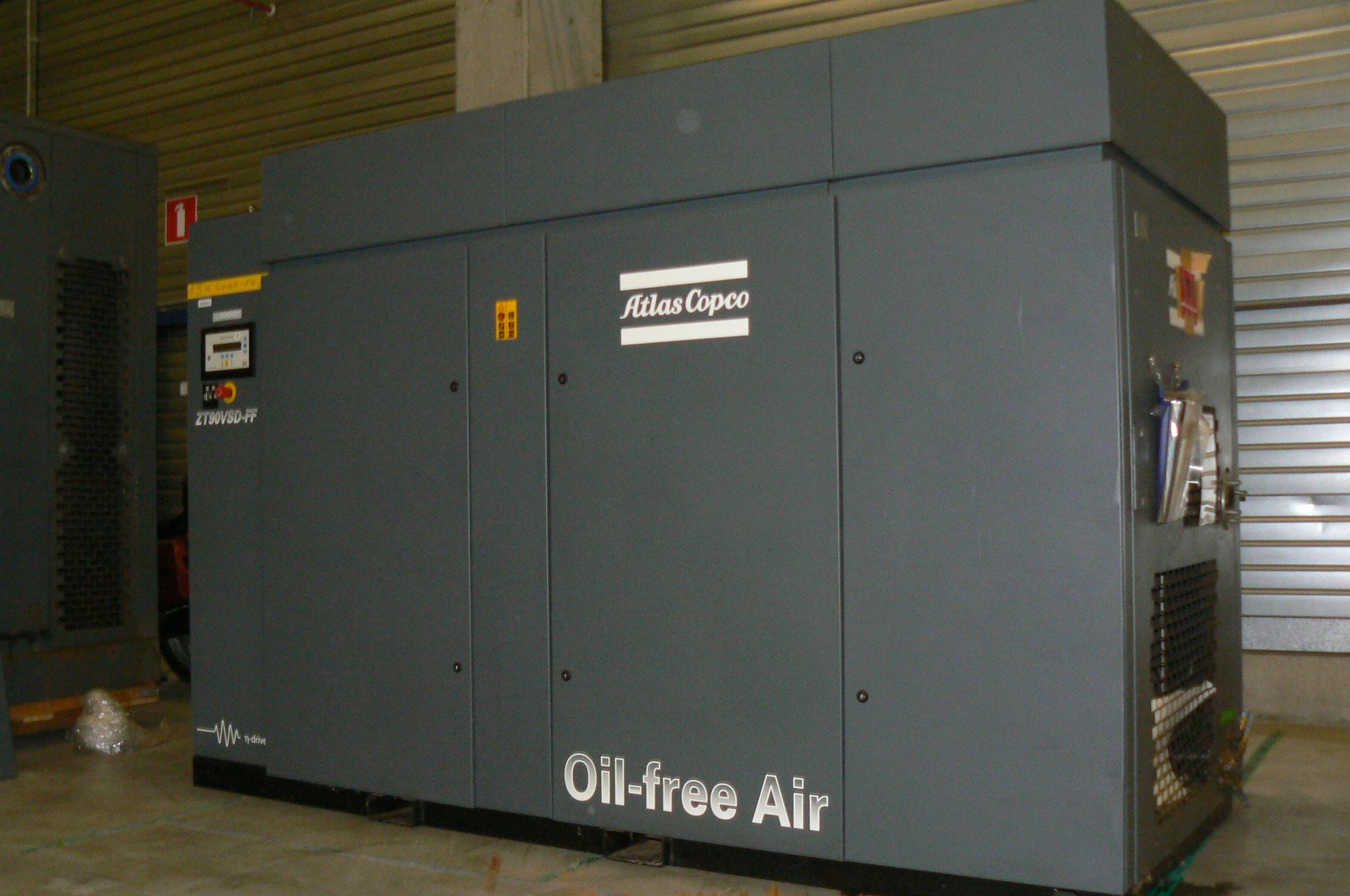 Atlas Copco ZT 90 VSD FF, Compresores, Construcción