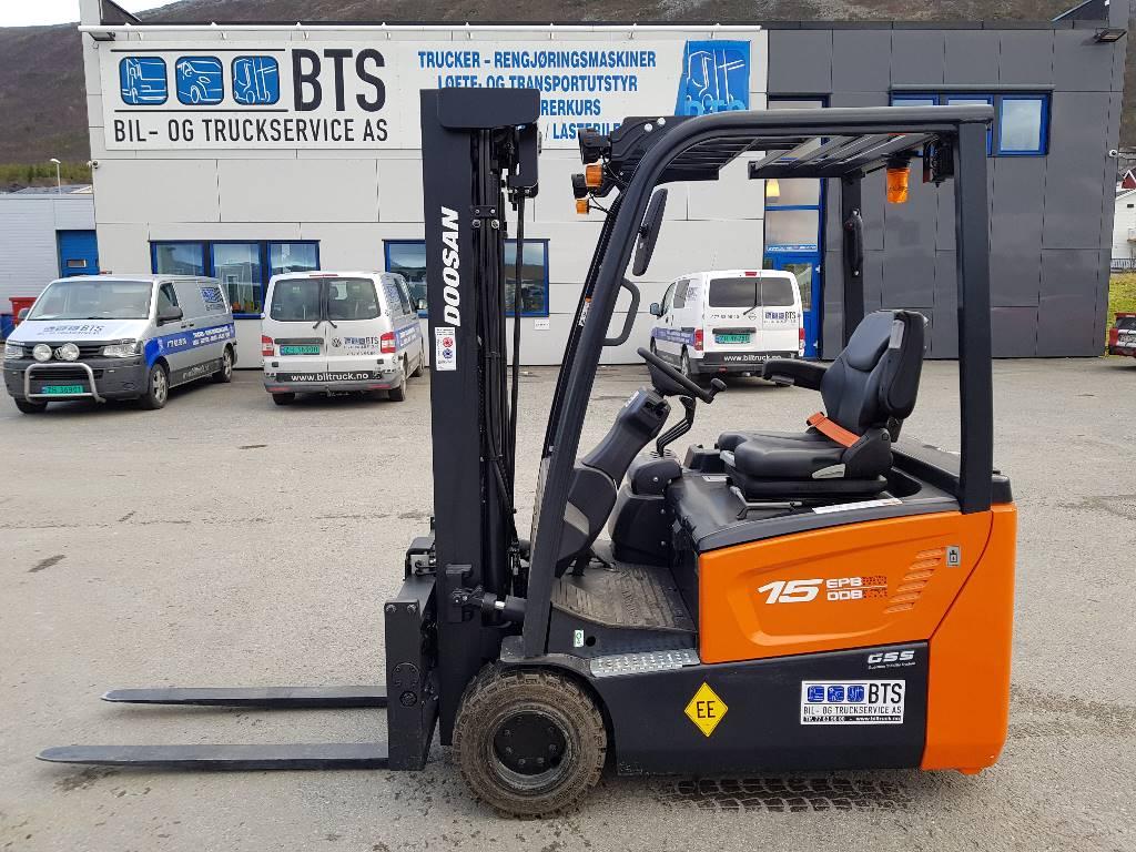 Doosan B15T-7 - 1,5 t el. truck - 4,75 m LH (PÅ LAGER), Elektriske trucker, Truck