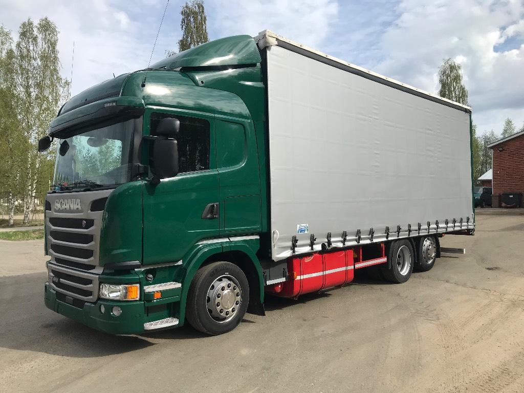 Scania G410 6x2 kapellilavalla, Pressukapelli kuorma-autot, Kuljetuskalusto