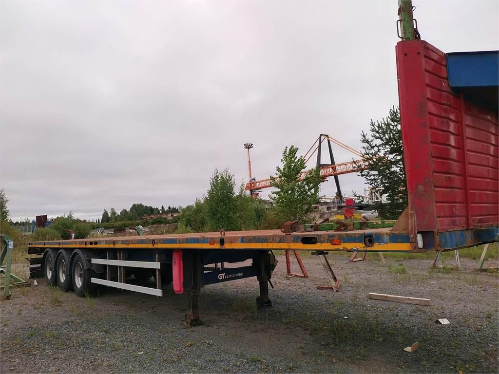 GT trailer vahva 13,60 teräslavainen kärry,konttiluko, Lavapuoliperävaunut, Kuljetuskalusto
