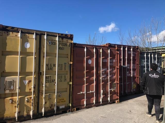 Container 40 fot high cube, Sjöcontainers, Transportfordon