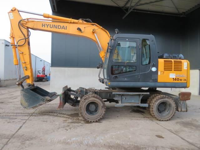 Hyundai Robex 140 W-7A, Wielgraafmachines, Bouw