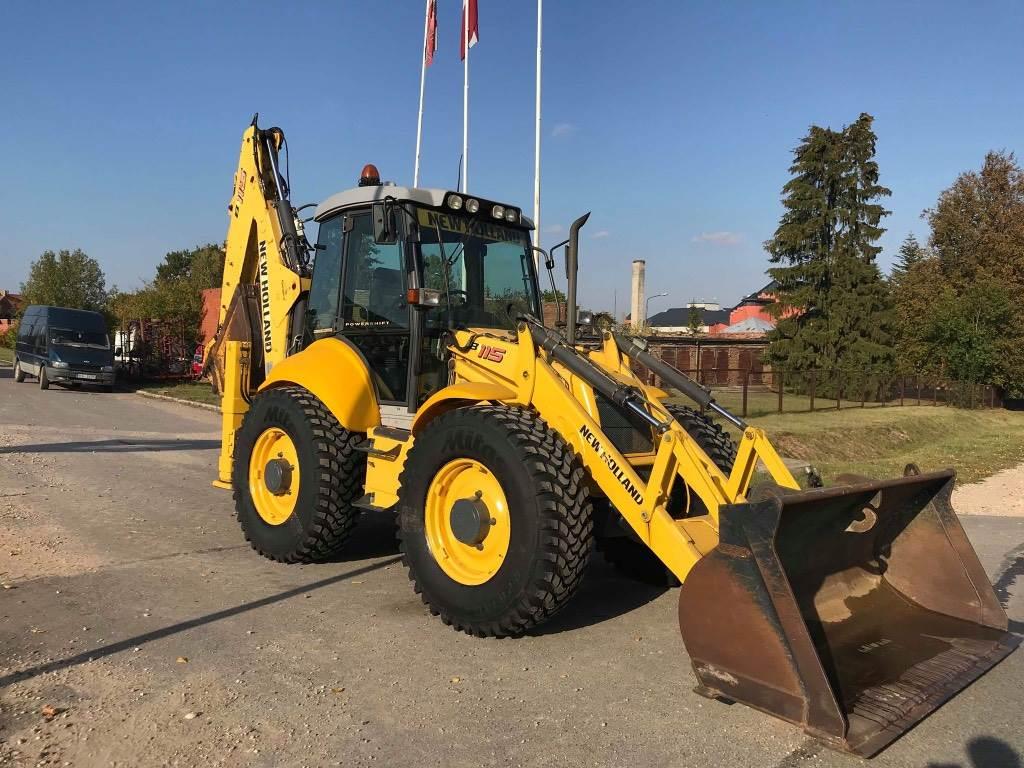 New Holland LB 115-4 PS, Ekskavatori-iekrāvēji, Būvniecība