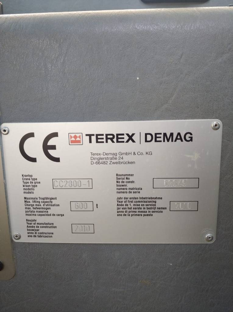 Terex Demag CC 2800-1, Tracked cranes, Construction