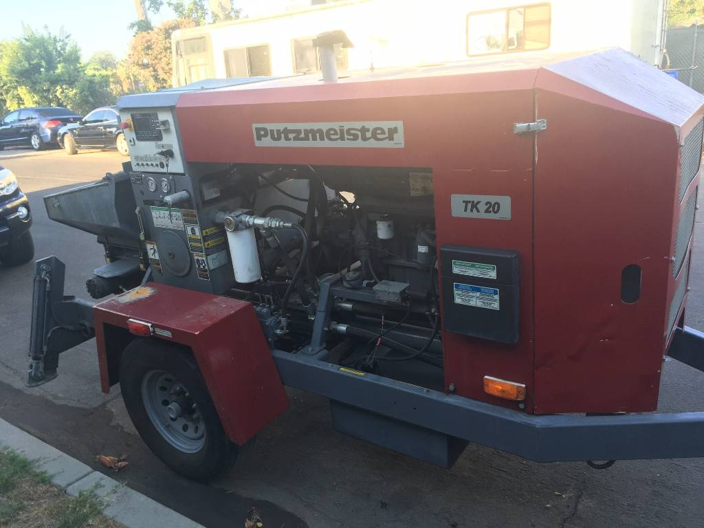Putzmeister Thom-Katt TK 20, Line Pumps, Construction Equipment