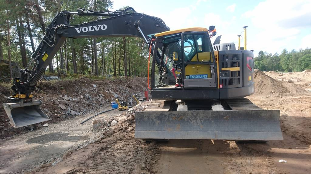 Volvo ECR 235 EL, UTHYRES, Bandgrävare, Entreprenad