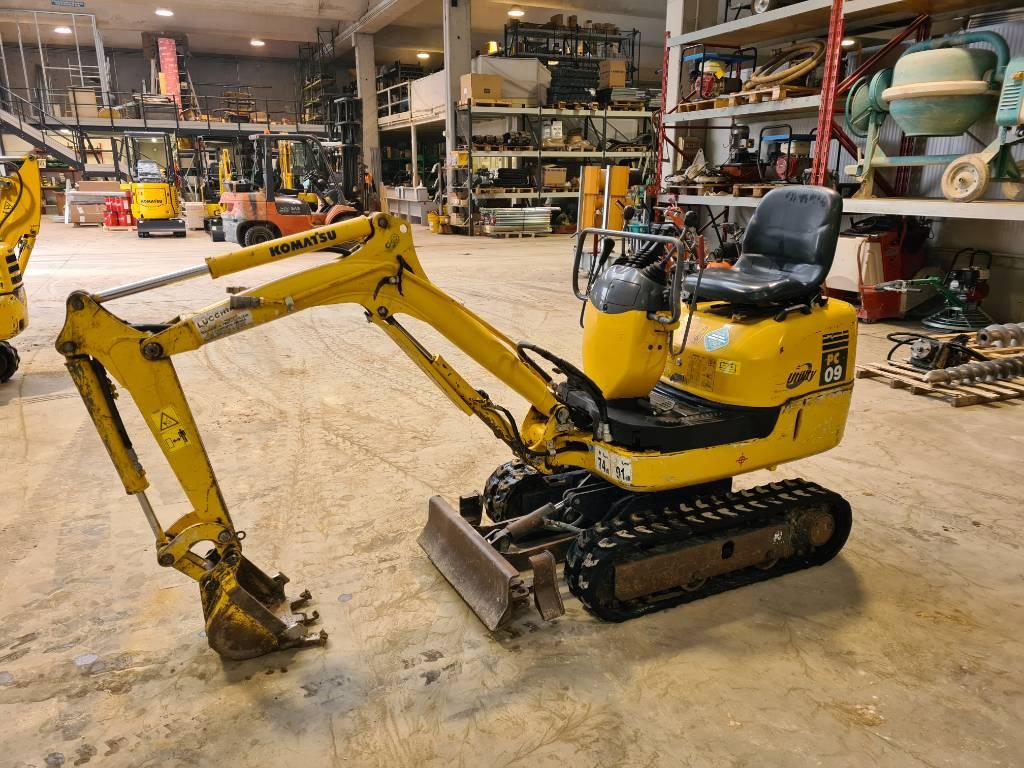 Komatsu PC09-1, Mini excavators, Construction Equipment