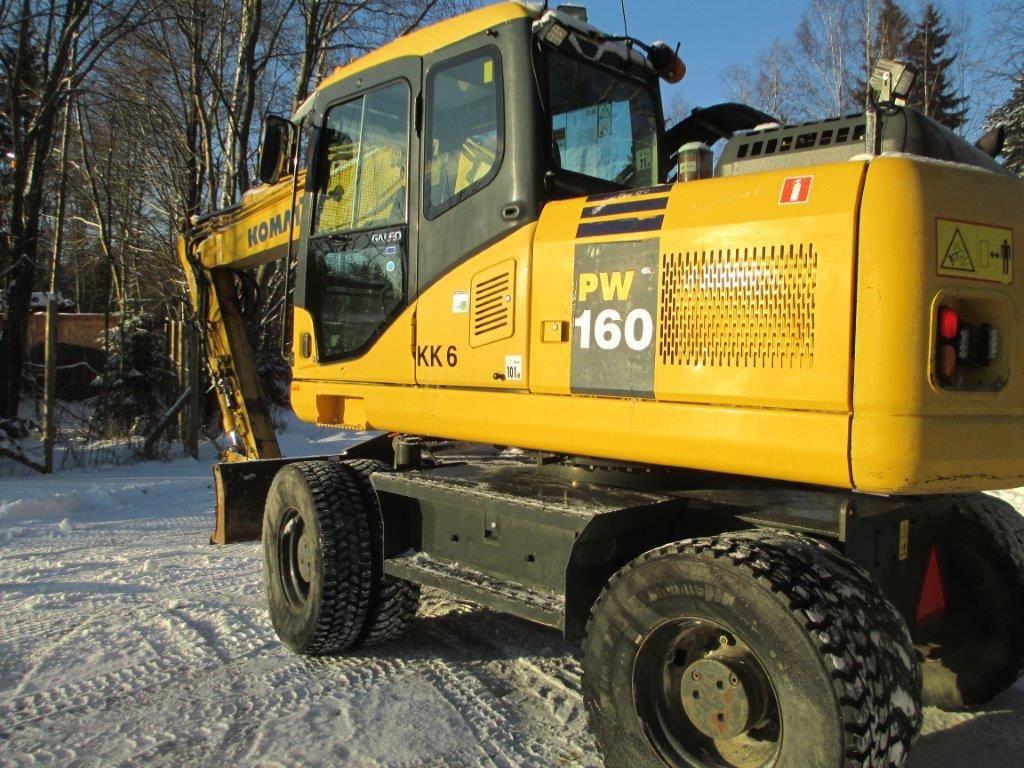 Komatsu PW 160-7, Wheeled excavators, Construction