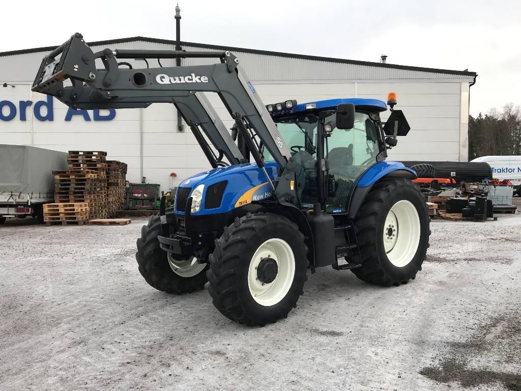 New Holland TS 115 A EC, 2.500tim Ålö Q55, Traktorer, Lantbruk
