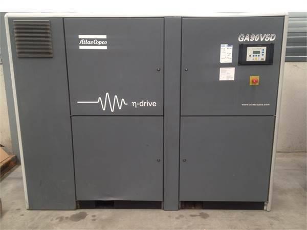 Atlas Copco GA 90 VSD, Compressors, Industrial