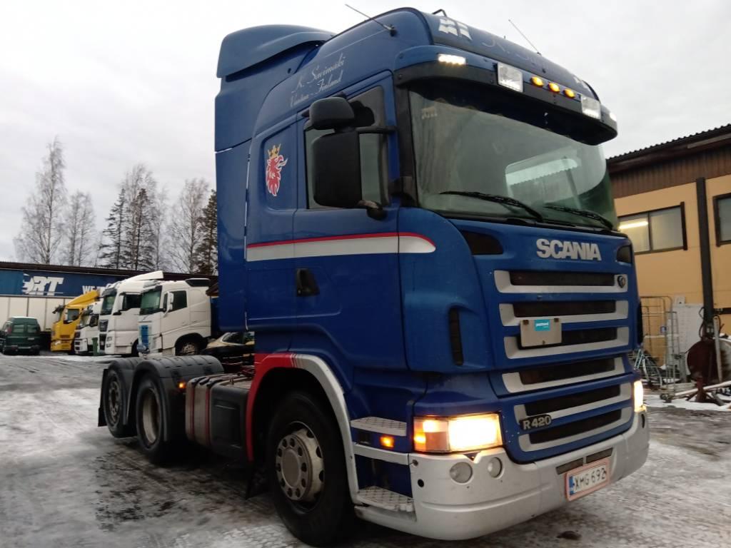 Scania R420 takateliveturi, Vetopöytäautot, Kuljetuskalusto