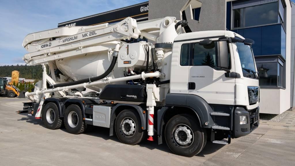 Cifa MK 28L, Kamionske črpalke za beton, Gradbeništvo