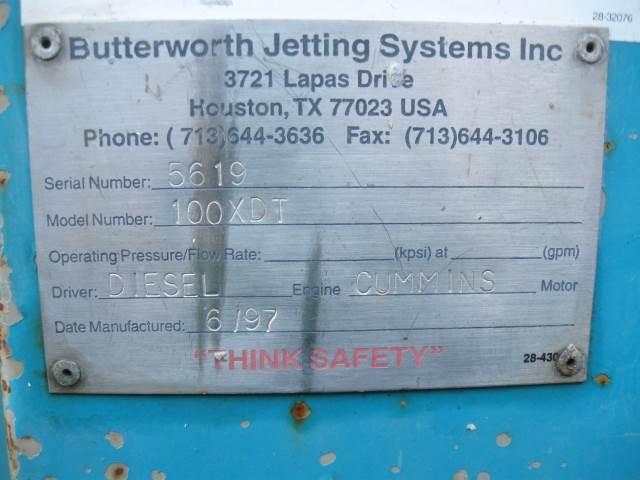 [Other] Butterworth Jetting System 100 XDT, Övrig gruvutrustning, Entreprenad