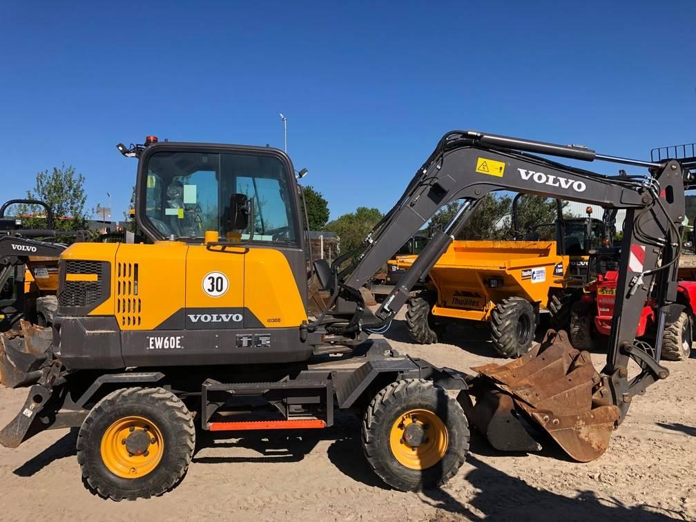 Volvo EW60E, Wheeled excavators, Construction