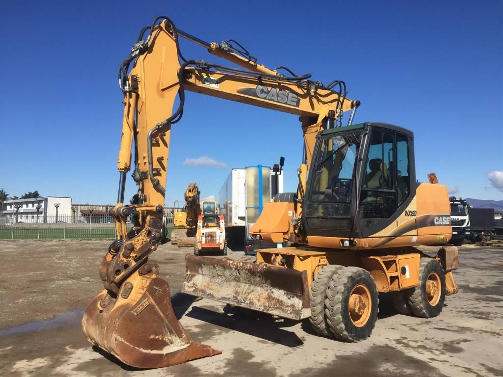 CASE WX 150, Wheeled Excavators, Construction Equipment