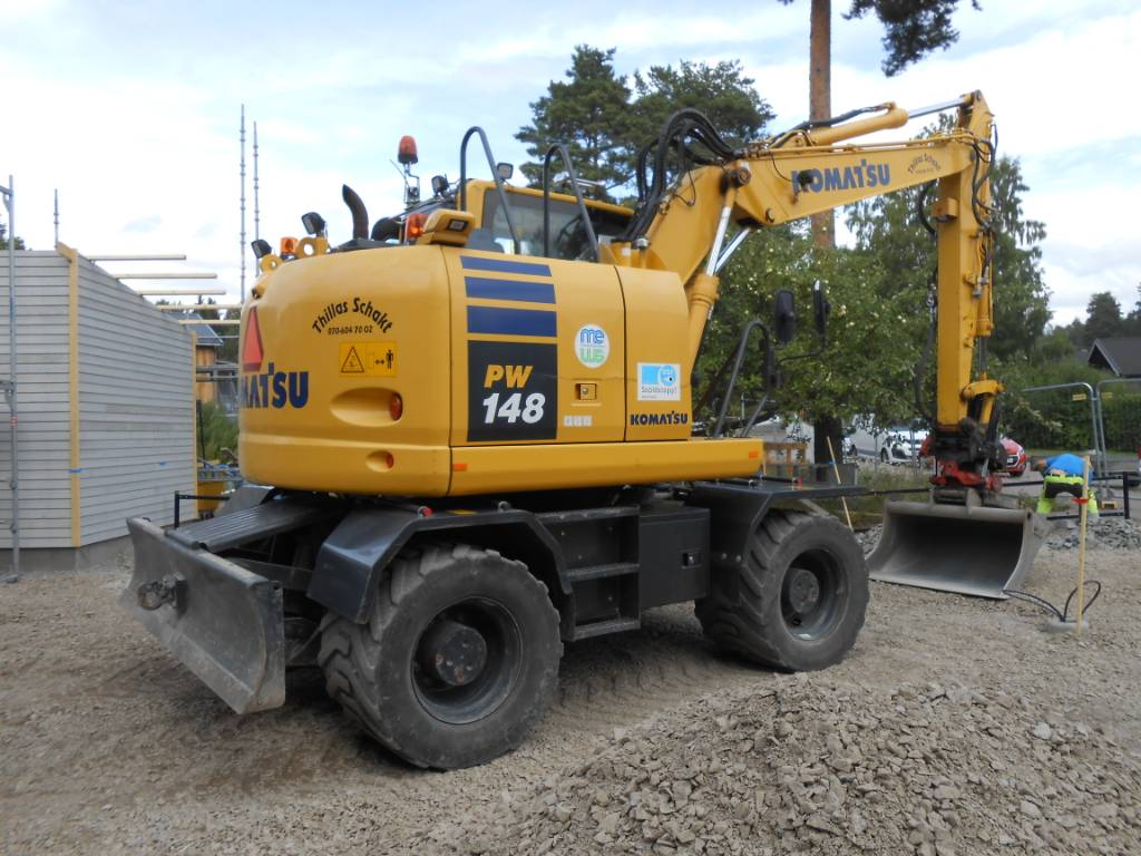 Komatsu PW148-10, Wheeled Excavators, Construction Equipment