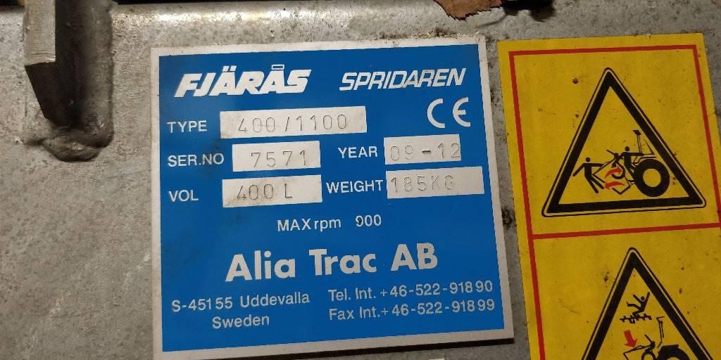 Fjärås Spridaren 400/1100 Hiekoitin, Taajamatraktorien varusteet, Ympäristökoneet