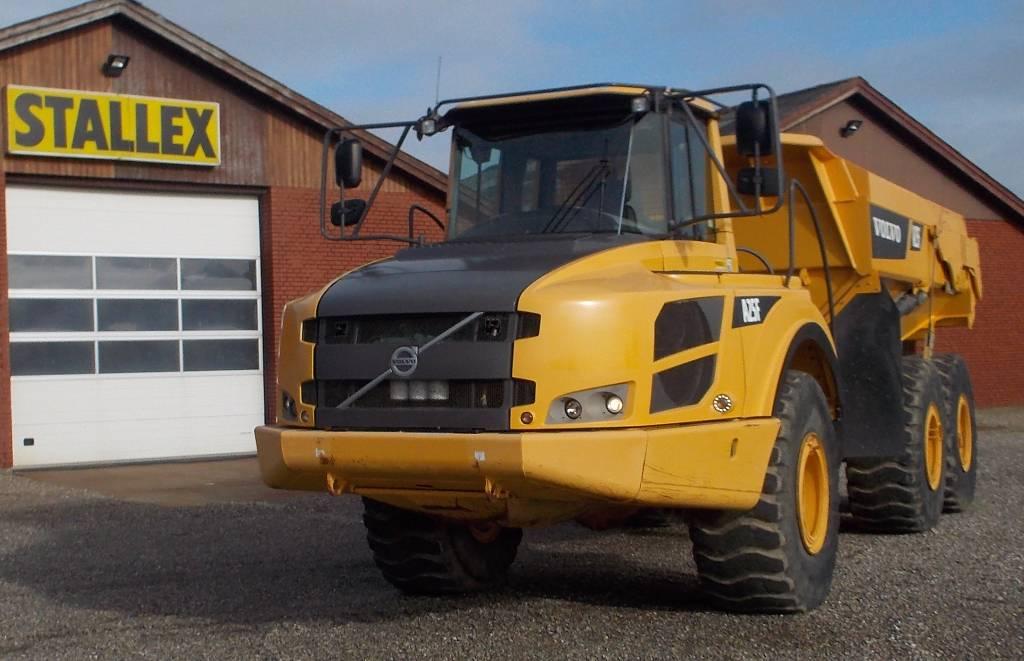 Volvo A25F, Knækstyrede dumpere, Entreprenør