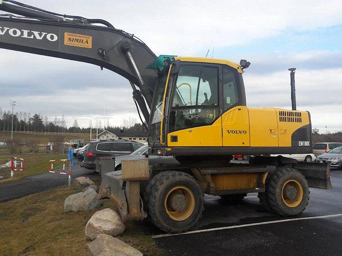 Volvo EW180C, Wheeled excavators, Construction
