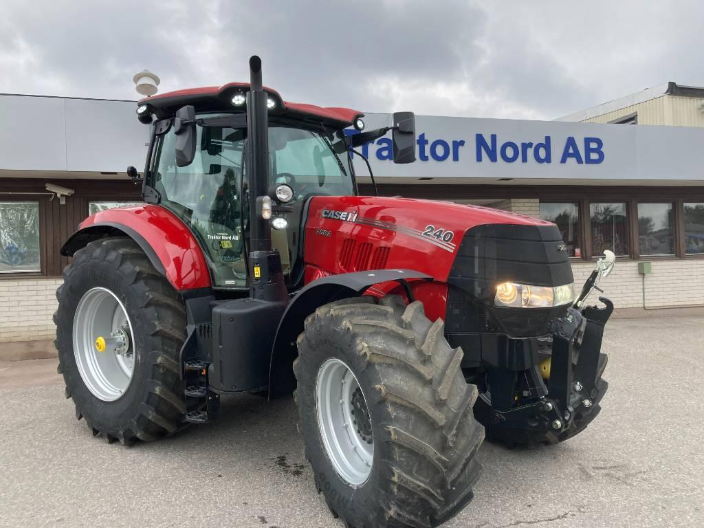 Case IH PUMA 240 CVX Fronlyft/PTO Förberedd för GPS Omg Le, Traktorer, Lantbruk