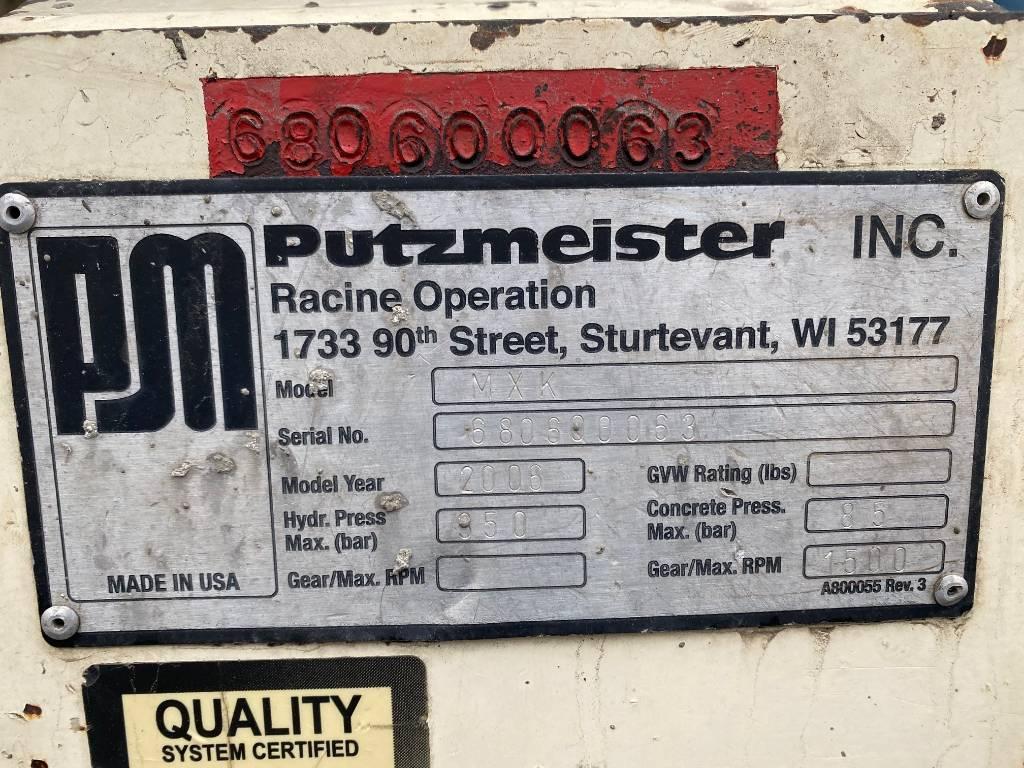 Putzmeister MX 34/38 Placing Boom System, Boom Pumps, Construction Equipment