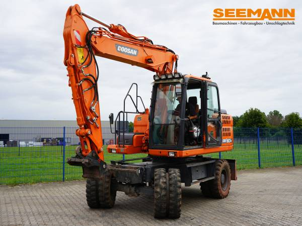 Doosan DX 160 W-3, Wheeled Excavators, Construction Equipment