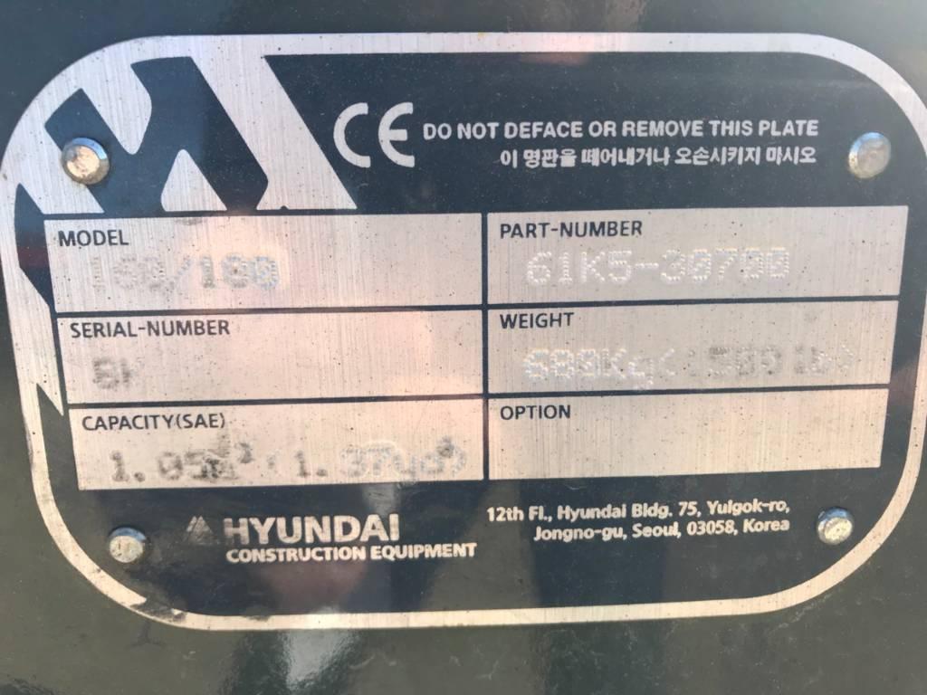 Hyundai 160/180, Łyżki do ładowarek, Maszyny budowlane
